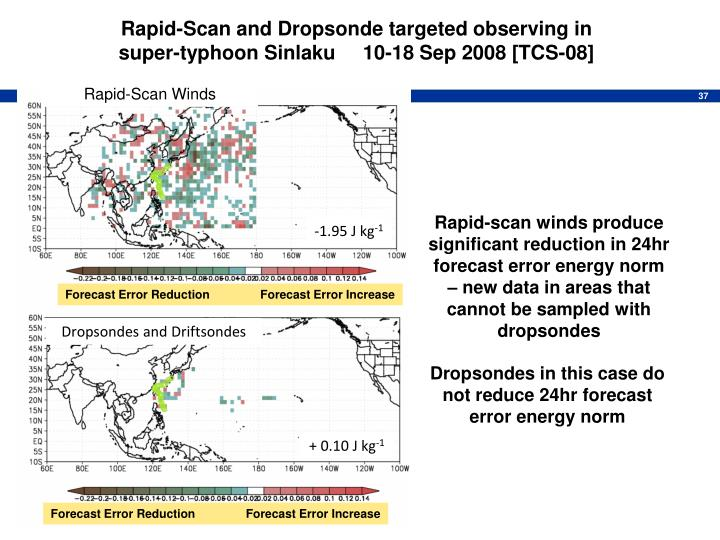 Rapid-Scan and Dropsonde targeted observing in                              super-typhoon Sinlaku     10-18 Sep 2008 [TCS-08]