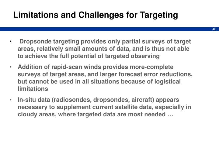 Limitations and Challenges for Targeting
