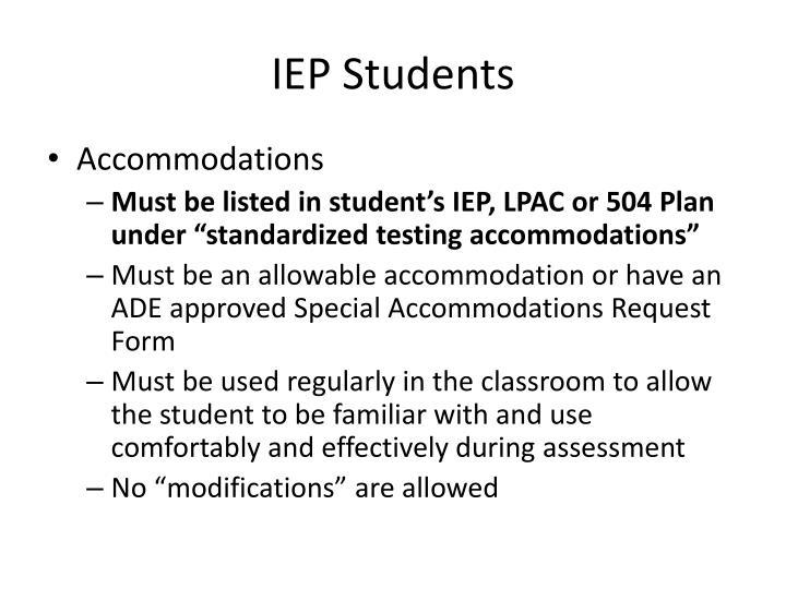 IEP Students
