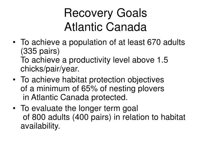 Recovery goals atlantic canada
