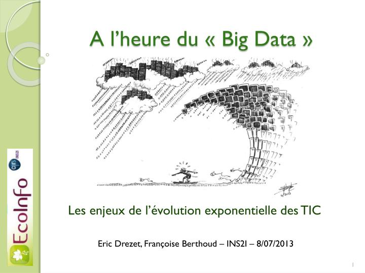 A l heure du big data