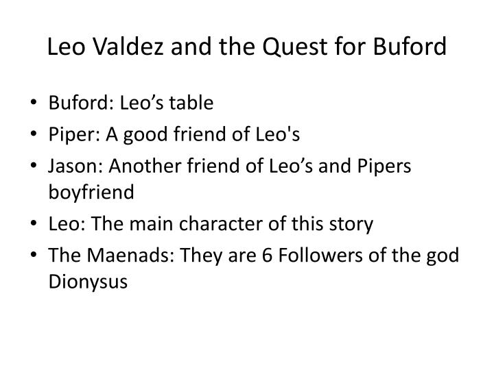 Leo Valdez and the Quest for Buford