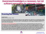 awareness knowledge is a necessary but not sufficient precondition for adequate action