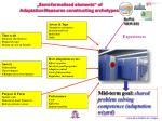 semi formalised elements of adaptation measures constructing archetypes