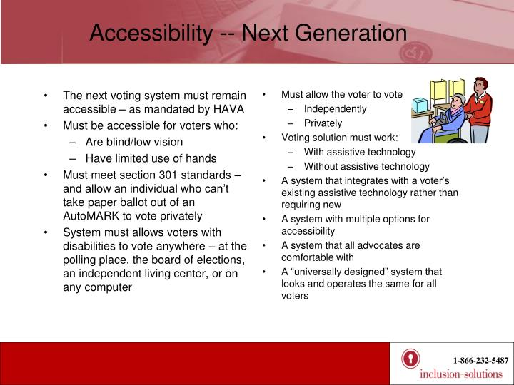 Accessibility -- Next Generation