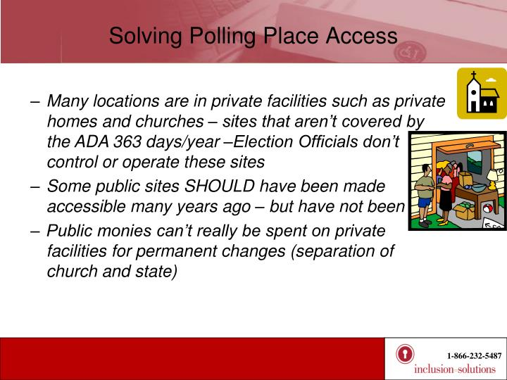 Solving Polling Place Access