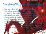 storyline official game description