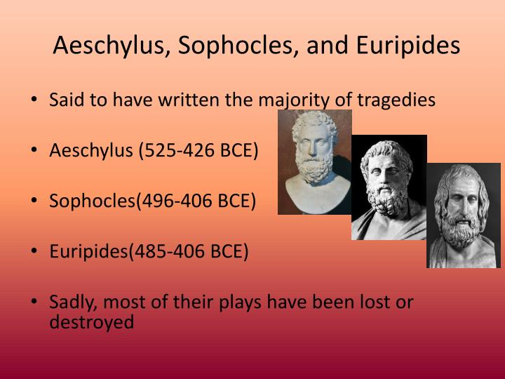womens roles in aeschylus and euripides The paperback of the the living art of greek tragedy by (aeschylus, sophocles, and euripides) often cast women in these roles aeschylus's complex and.