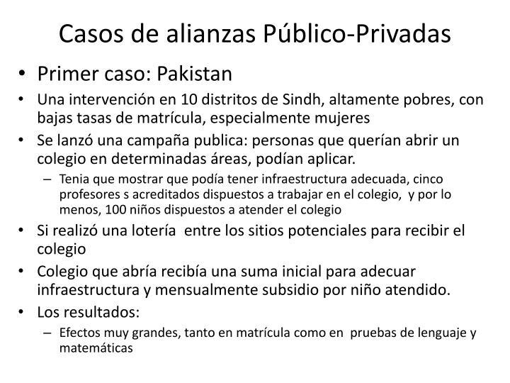 Casos de alianzas Público-Privadas
