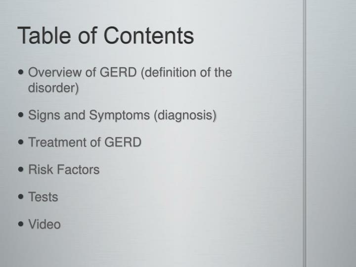 PPT - Gastroesophageal Reflux Disease (GERD) PowerPoint Pres