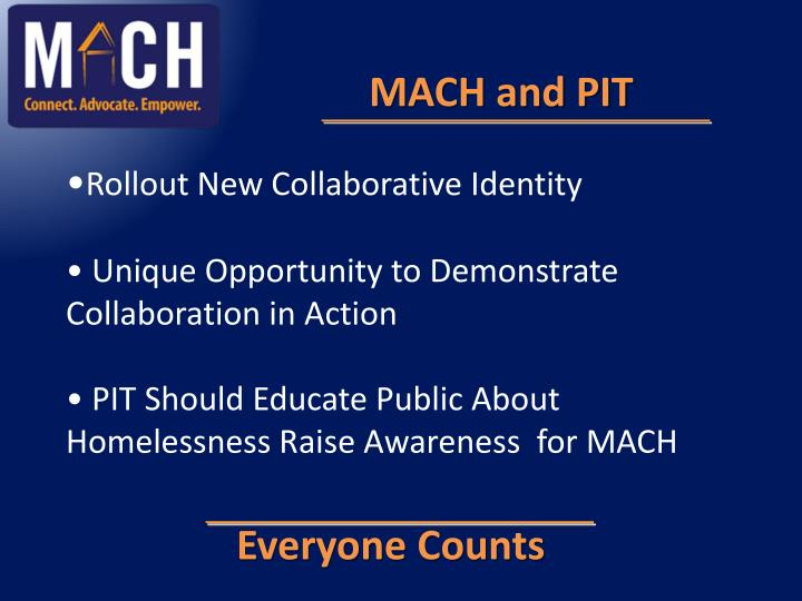 MACH and PIT