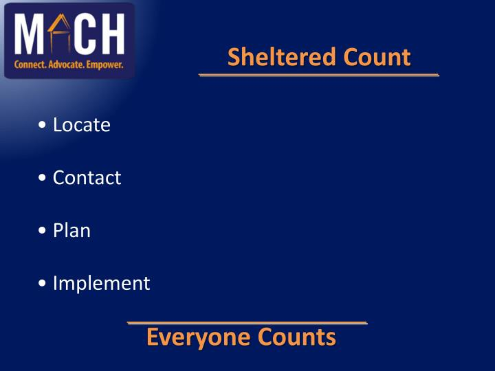 Sheltered Count