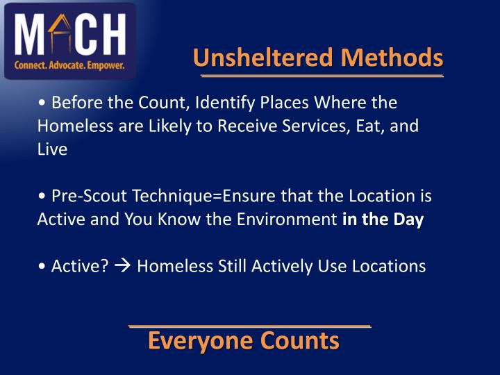 Unsheltered Methods