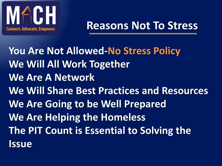 Reasons Not To Stress