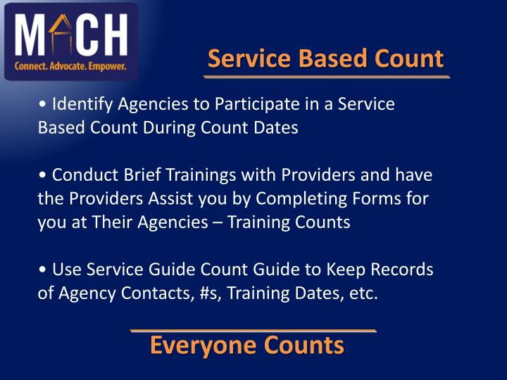 Service Based Count