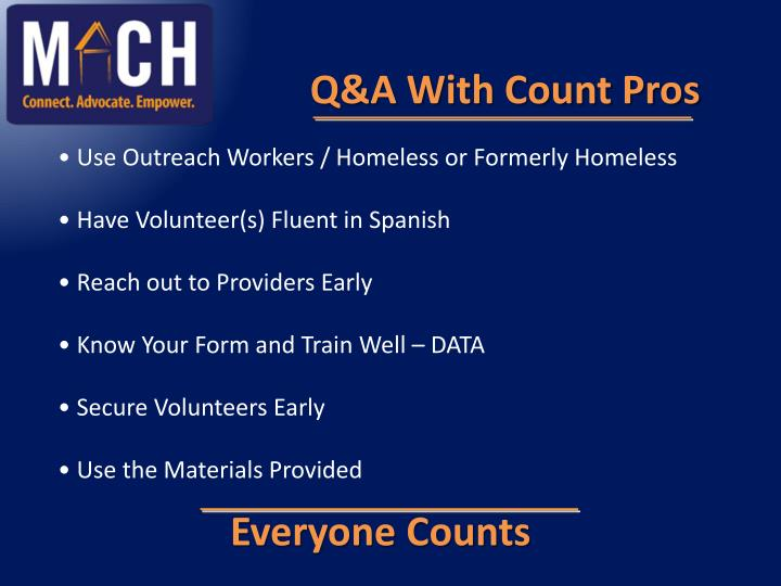 Q&A With Count Pros