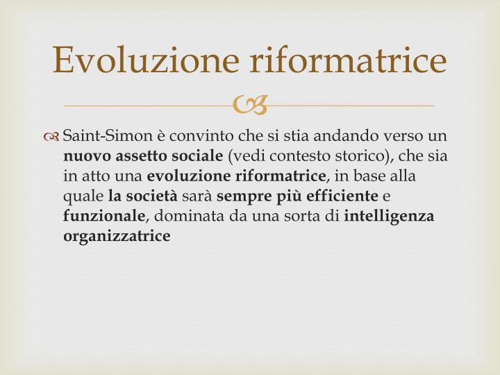 Evoluzione riformatrice