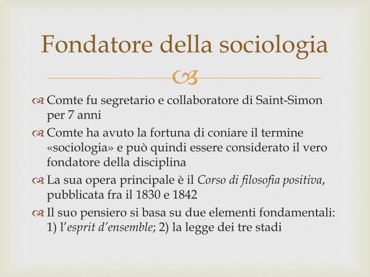 Fondatore della sociologia