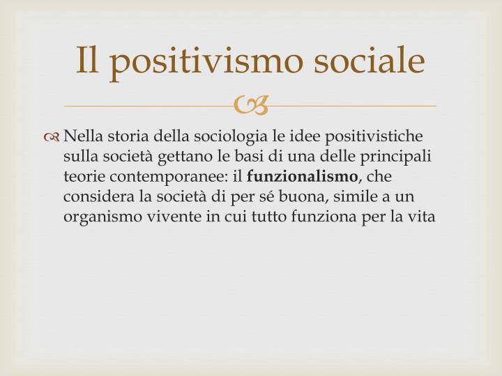 Il positivismo sociale1