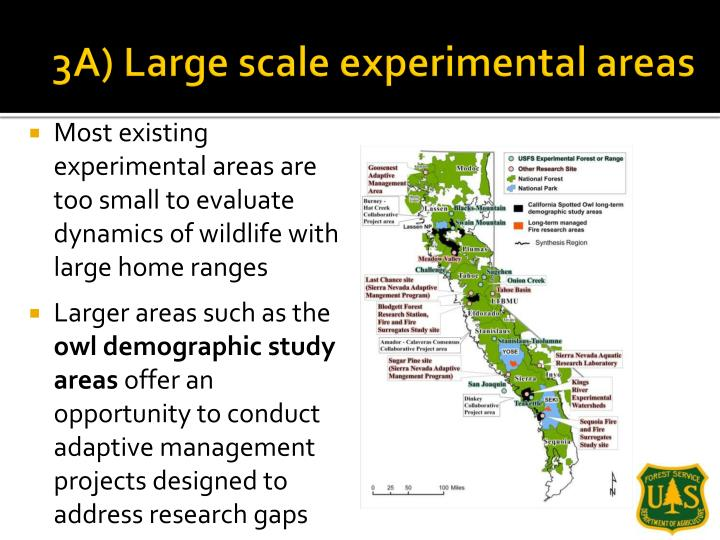 3A) Large scale experimental areas