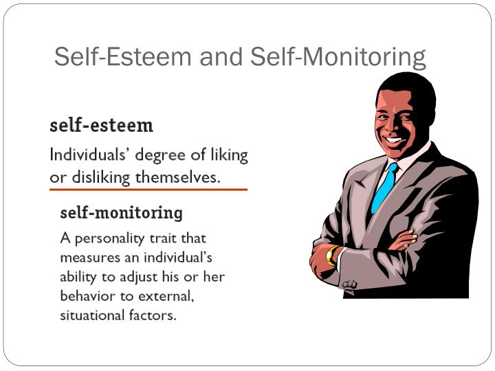 self monitoring and persons appearance They often find it easier than low-self monitors to put other people at ease in social situations high self-monitors also tend to be good at figuring out what others are thinking and feeling, an ability that gives them a clear advantage in man social settings.