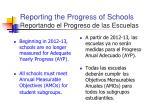 reporting the progress of schools reportando el progreso de las escuelas