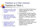 teachey is a title i school teachey es t tulo i