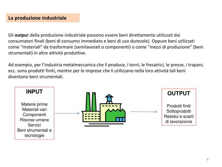 La produzione industriale