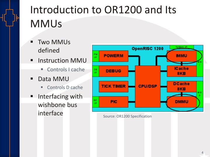 Introduction to OR1200 and Its MMUs