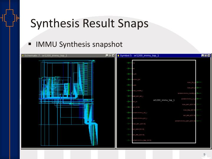 Synthesis Result Snaps
