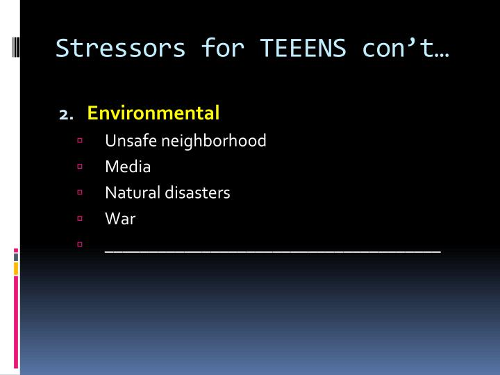 Stressors for