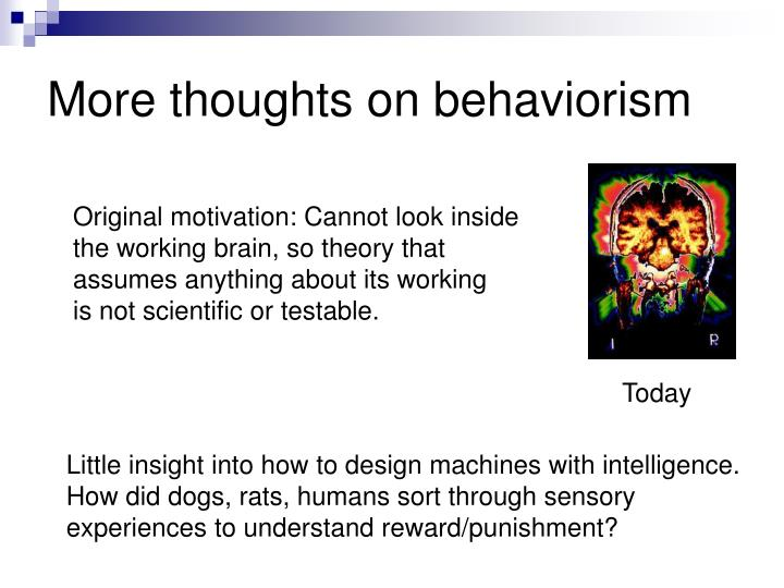 More thoughts on behaviorism