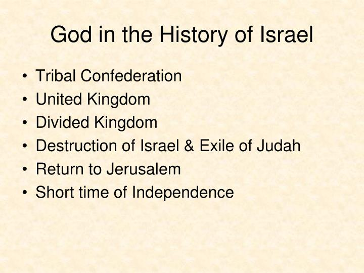 God in the History of Israel