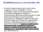 tar lombardia brescia sez ii 19 novembre 2009 n 2238