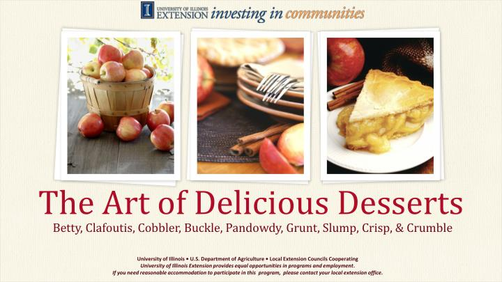 The art of delicious desserts