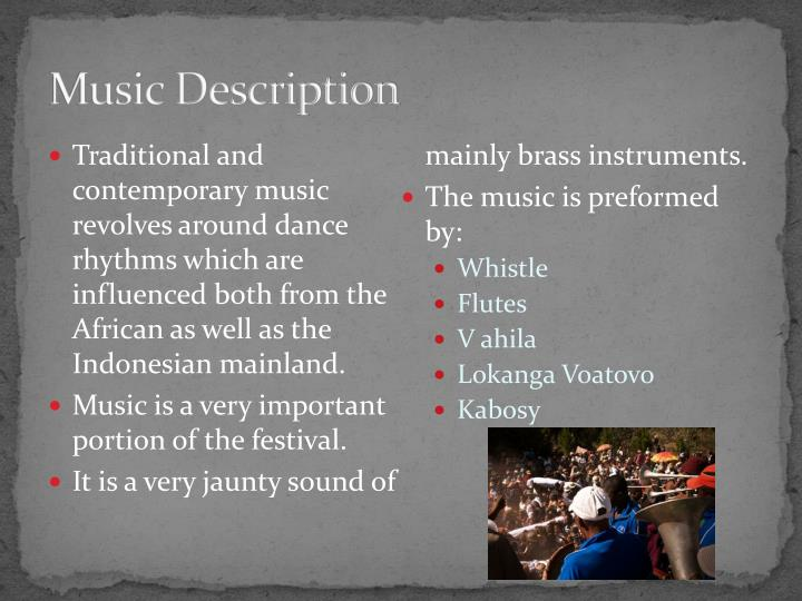 Music Description