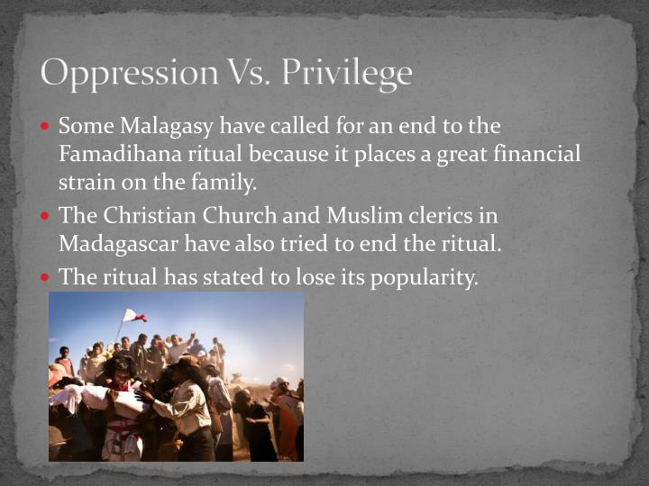 Oppression Vs. Privilege