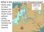 what is the purpose of the panama canal
