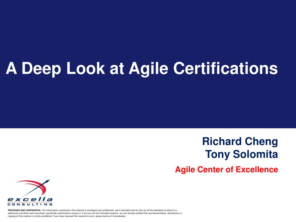 Ppt A Deep Look At Agile Certifications Powerpoint Presentation