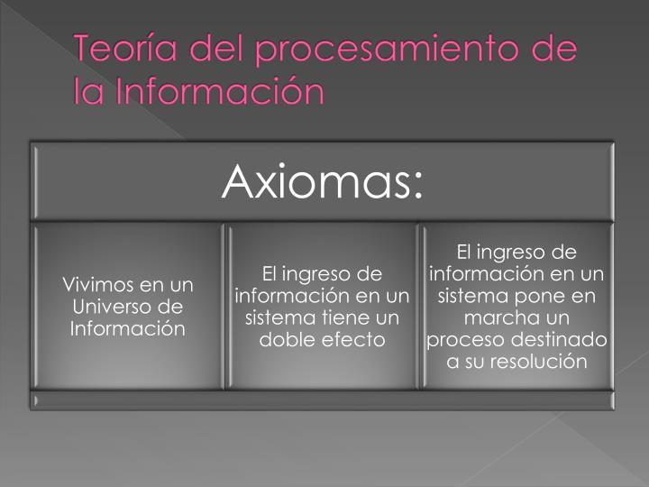 Teor a del procesamiento de la informaci n