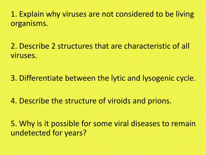 why is a virus not considered to be living