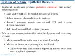 first line of defense epithelial barriers