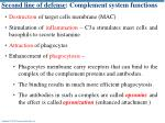 second line of defense complement system functions