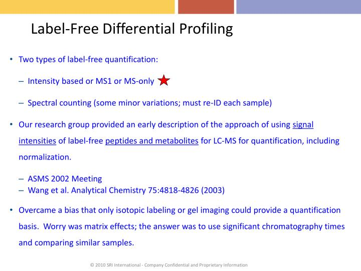 Label-Free Differential Profiling