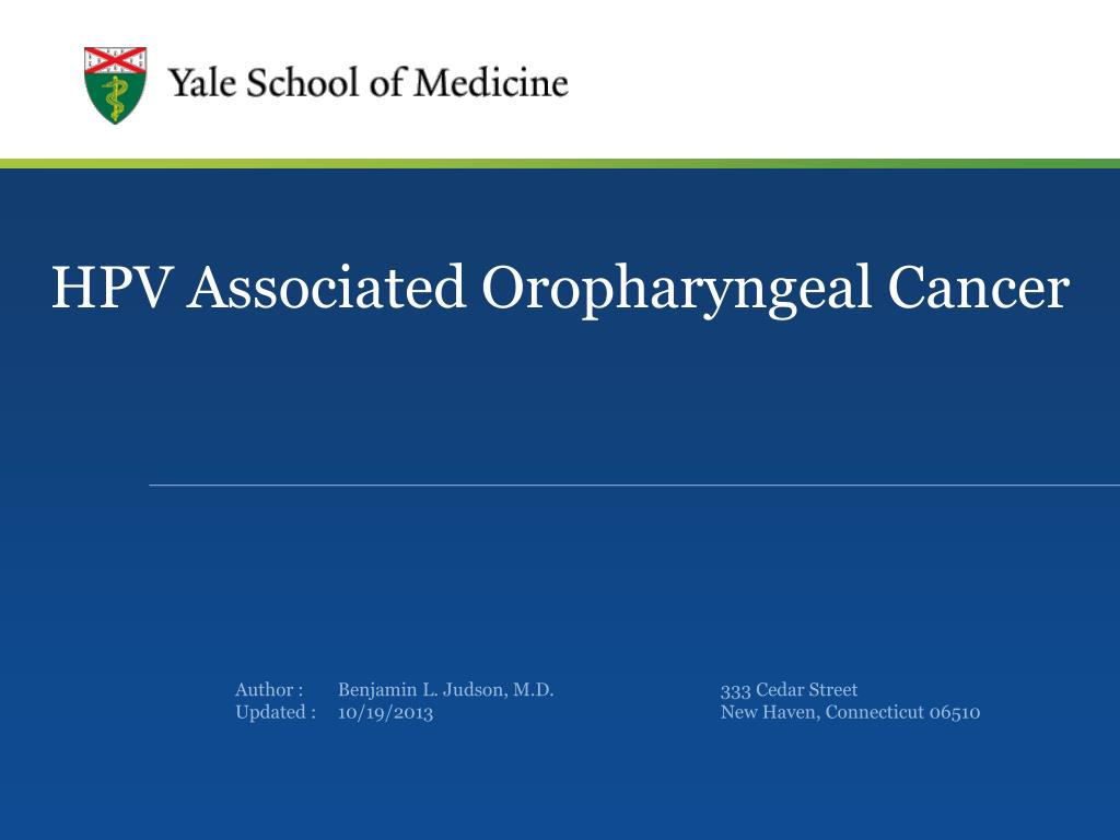 hpv oropharyngealis rák ppt