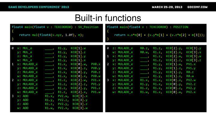 Built-in functions