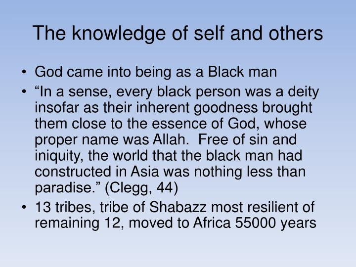 The knowledge of self and others