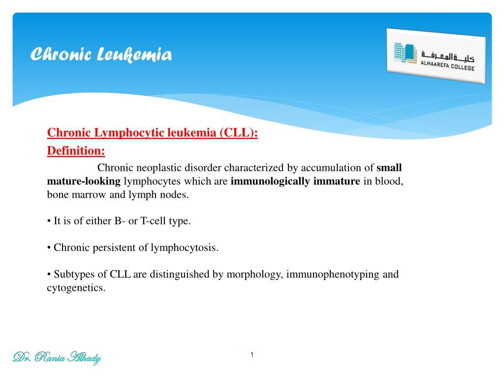 ppt - chronic leukemia powerpoint presentation - id:2045569