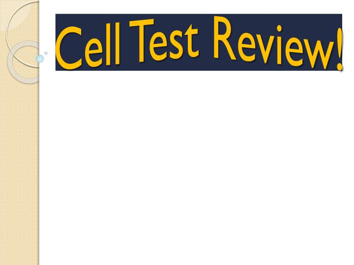 cell test review n.