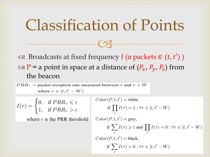 Classification of Points